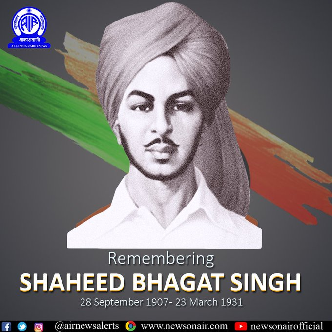 Nation Pays Tribute To The Revolutionary Freedom Fighter Bhagat Singh On His 113th Birth Anniversary Today Telugu Times Now