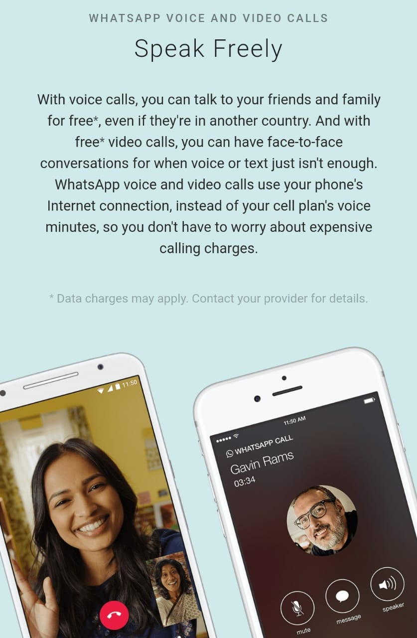 WhatsApp web video calls