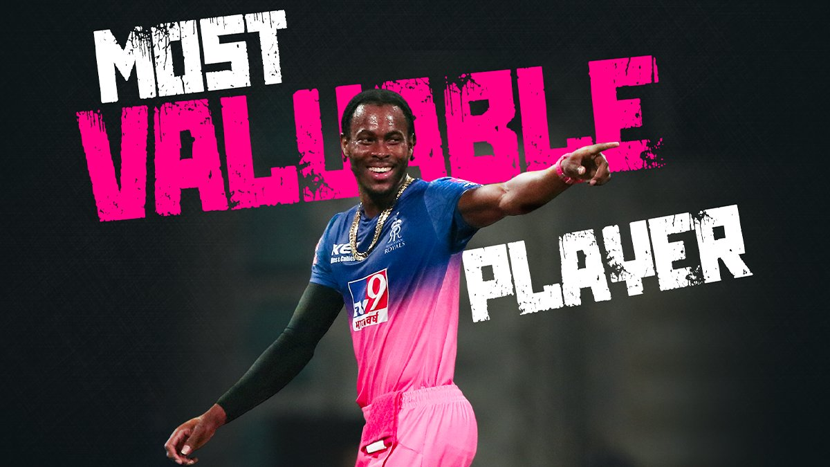 jofra archer baba most valuable player