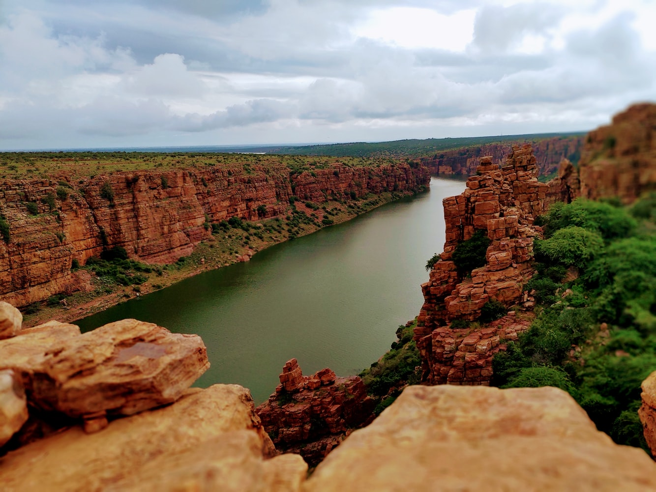 naturally formed gorge in india.