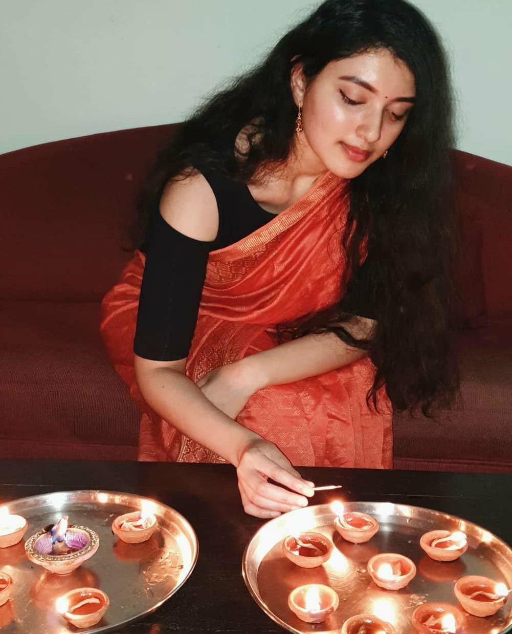 Urmila Gajapati raju in saree
