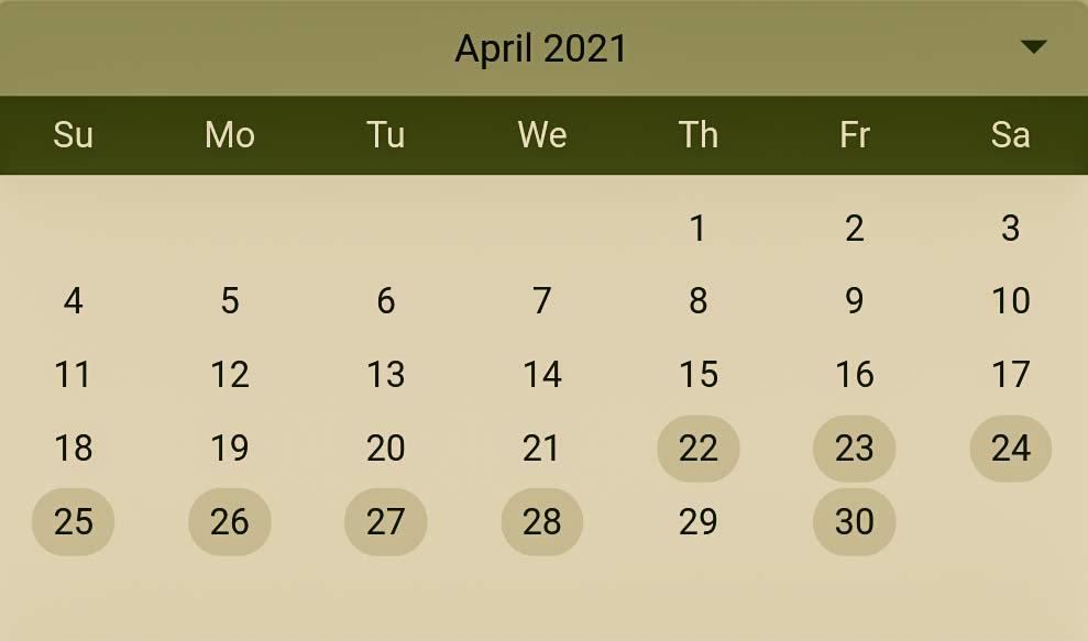 Hindu Pelli muhurthalu in April 2021