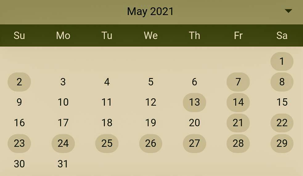 Hindu Pelli muhurthalu in May 2021