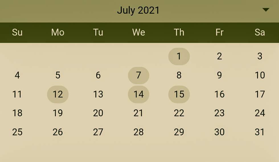 Hindu Pelli muhurthalu in July 2021
