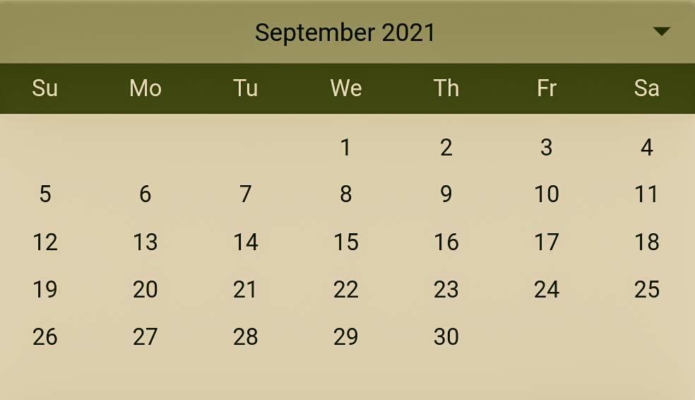 Hindu Pelli muhurthalu in September 2021