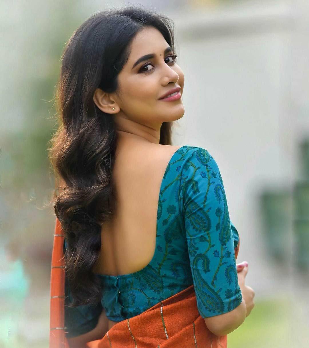Nabha natesh hot in saree