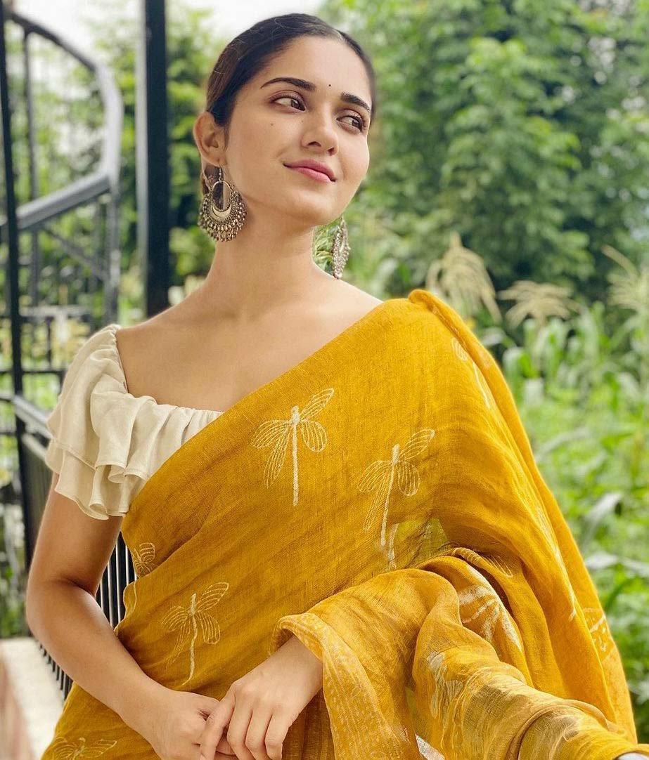 Ruhani sharma Saree images