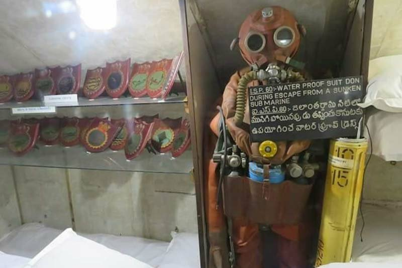 Inside pictures of Submarine Museum in Visakhapatnam